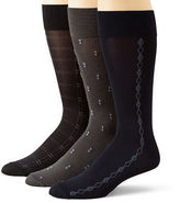 JCPenney Stafford 3-pk. Microfiber Nylon Crew Socks