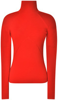 Prabal Gurung Rib-Knit Turtleneck in Red