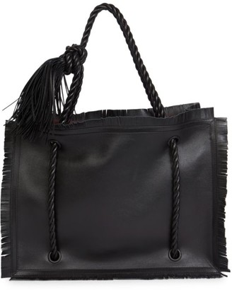 Valentino Large The Rope Leather Tote