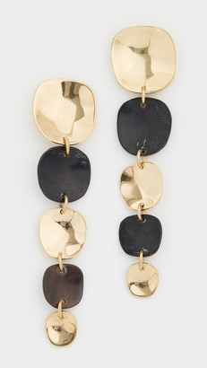 Soko Organic Mixed Material Square Earrings