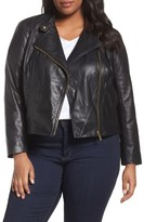 MICHAEL Michael Kors Plus Size Women's Crop Leather Jacket