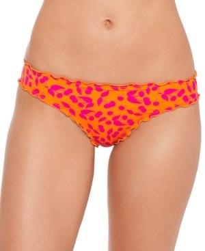Salt + Cove Juniors' Cherry on Top Printed Ruffled Hipster Bikini Bottoms, Created for Macy's Women's Swimsuit