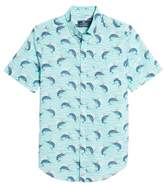 Vineyard Vines Classic Fit Print Short Sleeve Sport Shirt