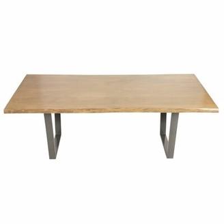 "Joseph Allen Live Edge Dining Table Color: Gray/Brown, Size: 84"" L x 42"" W"