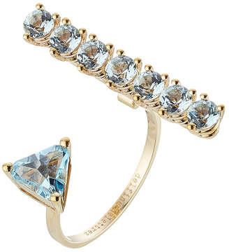 Delfina Delettrez 9kt Yellow Gold Ring with Topaz
