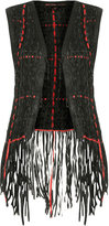 Kate Moss for topshop **leather weave gilet