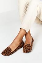 boohoo Wide Fit Leopard Tab Top Ballets