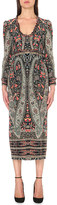 Vilshenko Scarlet paisley-print silk dress