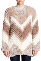 Bagatelle Chevron Faux Fur Jacket