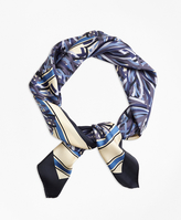 Brooks Brothers Silk Pompon Scarf