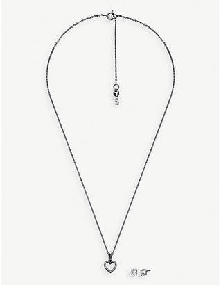 Michael Kors Sterling silver heart pendant and earrings set