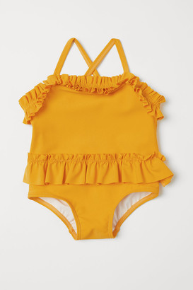 H&M Ruffled Swimsuit - Yellow