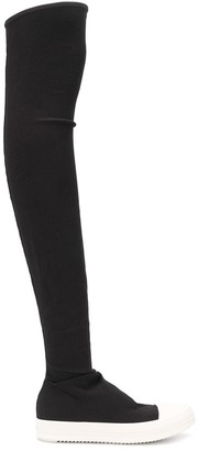 Rick Owens Thigh-High Sneaker-Style Boots