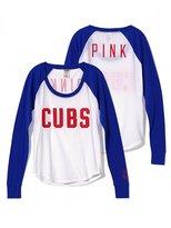Victoria's Secret PINK Chicago Cubs Long Sleeve Baseball Tee