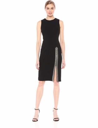 Calvin Klein Women's Sleeveless Sheath with Embellished Slit Dress