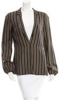 Gucci Silk Striped Lighweight Blazer w/ Tags