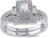 JCPenney MODERN BRIDE 3/8 CT. T.W. Diamond 10K White Gold Bridal Ring Set