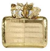 Nancy Gonzalez Metallic Crocodile Butterfly Box Clutch