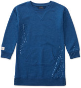 Ralph Lauren Splatter-Printed Sweatshirt, Toddler & Little Girls (2T-6X)