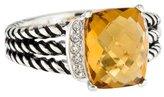 David Yurman Citrine & Diamond Petite Wheaton Ring