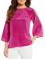 Antonio Melani Georgie Bell Sleeve Silk Blouse