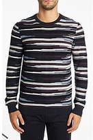 Hugo Boss Boss Krallgo Long Sleeve Stripe Jumper, Open Blue