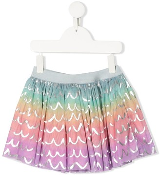 Stella McCartney Metallic Print Skirt