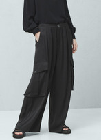Mango Outlet Cargo palazzo trousers