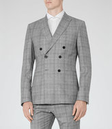 Reiss Vincent B Check Double-Breasted Blazer