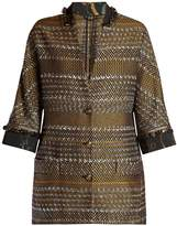 Etro Contrast collar and cuff tweed coat