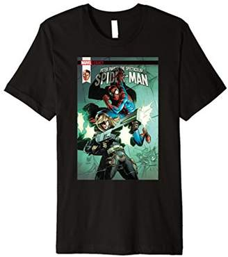 Spiderman Marvel Spectacular Comic Cover Premium T-Shirt