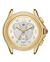 Michele 37mm Belmore Watch Head with Diamonds, Gold