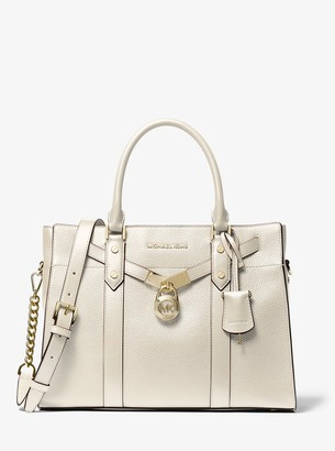 MICHAEL Michael Kors Nouveau Hamilton Large Pebbled Leather Satchel
