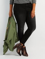 Charlotte Russe Plus Size Lace-Up Skinny Jeans