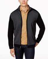 Tasso Elba Men's Jacquard Full Zip Sweater, Created for Macy's