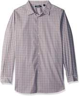 Perry Ellis Men's Big-Tall Big and Tall Multi Check Stripe Shirt,