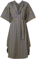 Tome striped belted dress - women - Cotton - XS
