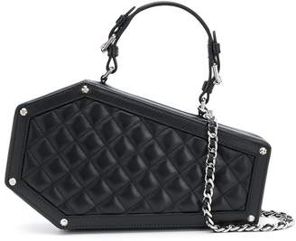 Moschino quilted coffin-shaped bag