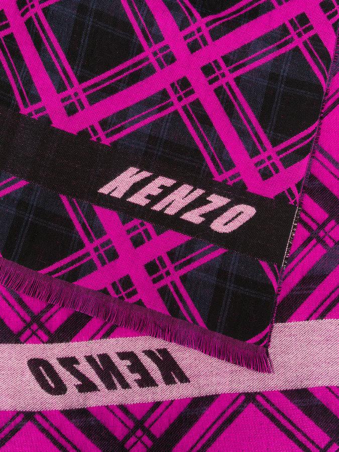 Kenzo diamond print scarf