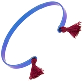 IaM by Ileana Makri Electric Blue Titan Cuff Bracelet - Red Tassels
