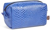 Nordstrom Steph&co. 'Blue Python' Rectangular Cosmetics Case