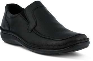 Spring Step Men's Slip-On Tumbled Leather Loafers - Niccolo