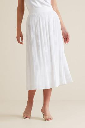 Seed Heritage Midi Micro Pleat Skirt