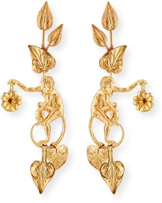 We Dream In Colour Capuchin Earrings, Gold