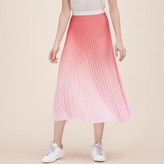 Maje Pleated tie-dye midi skirt