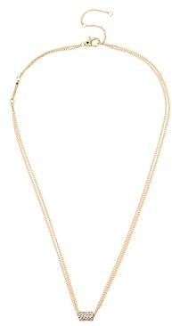 AllSaints Pave Geometric Delicate Pendant Necklace, 19-21
