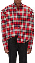 Vetements Men's Split Armholes Plaid Flannel Shirt