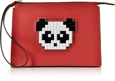 Les Petits Joueurs Color Block Leather Jack Panda Clutch
