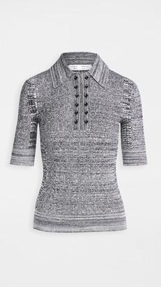 Proenza Schouler White Label Marl Knit Polo Shirt