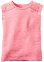 Carter's Knit Top (Toddler/Kid) - Bright Pink - 7